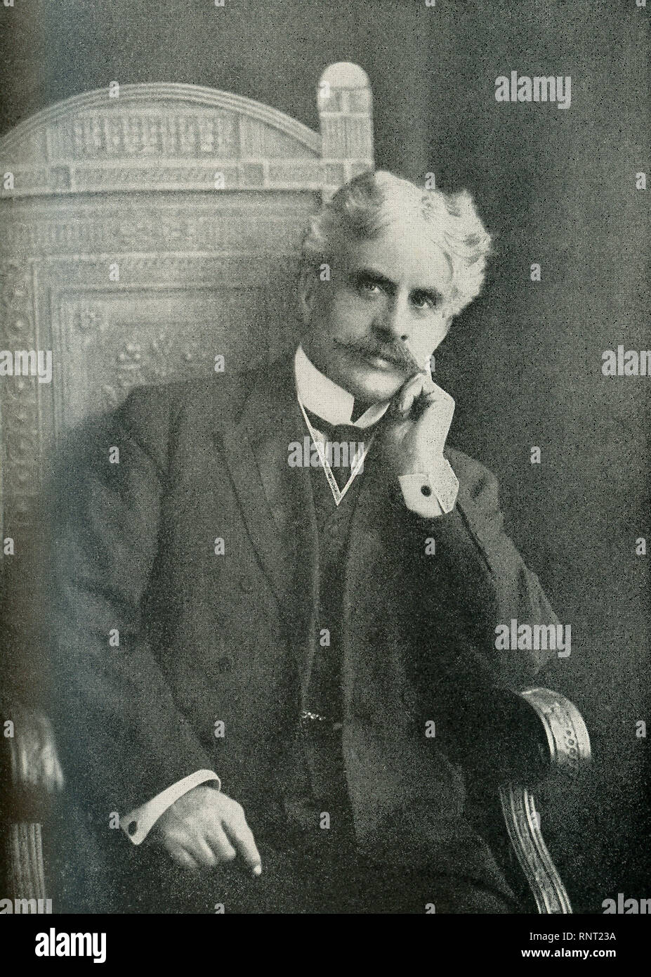 This photo that dates to 1922 shows Sir Robert Laird Borden, a Canadian lawyer and politician. He served as the eighth prime minister of Canada from 1911 to 1920. He guided Canada during World War I. - Stock Image