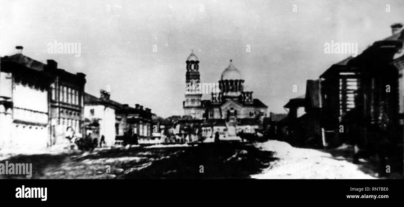 Cathedral of Christ the Saviour (Samara) 1890-s. - Stock Image