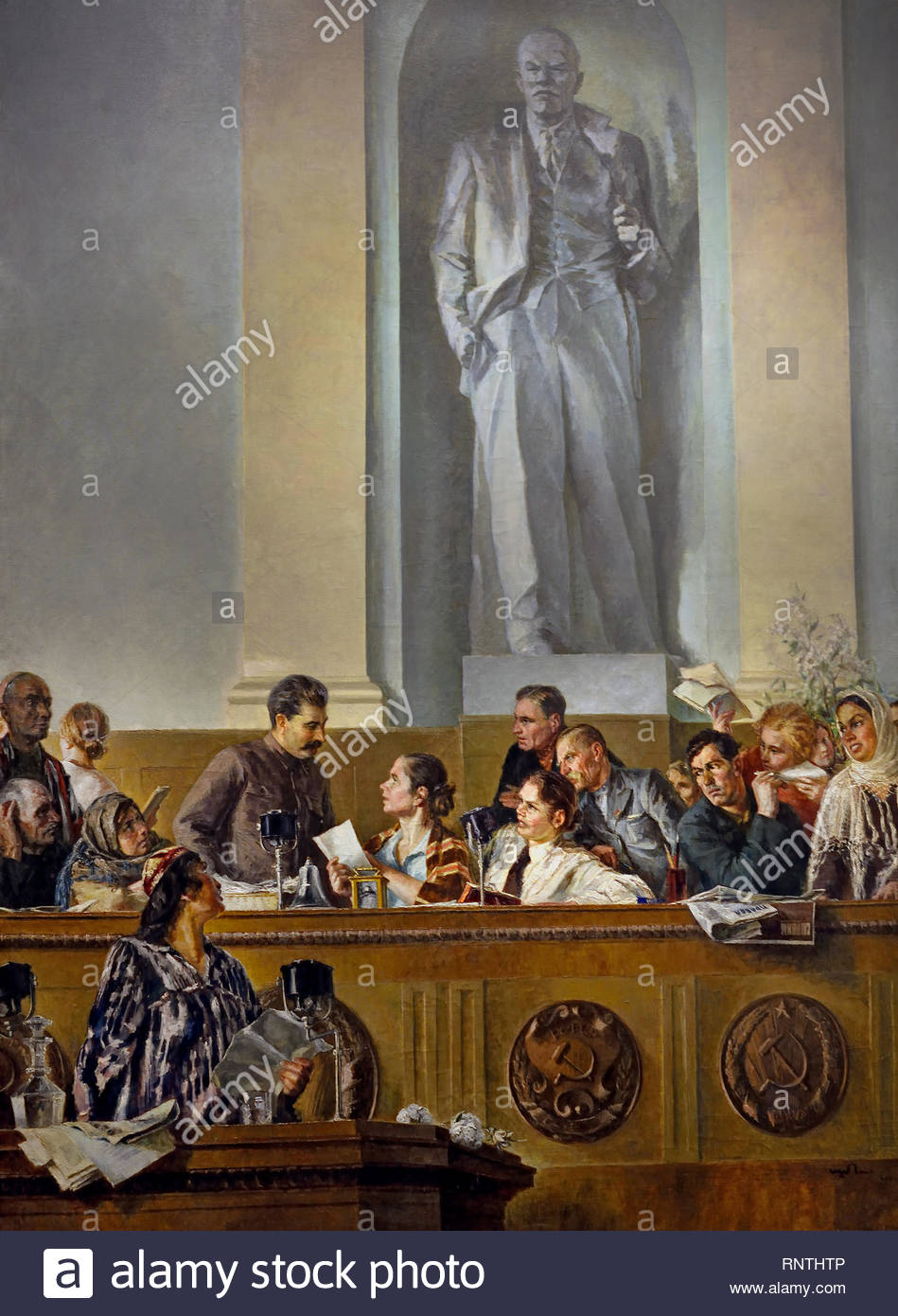 Stalin. The Leader, Teacher, and Comrade, 1937, by Grigory Shegal, Soviet Union Communist Propaganda (Russia under Lenin and Stalin1921-1953 ). - Stock Image