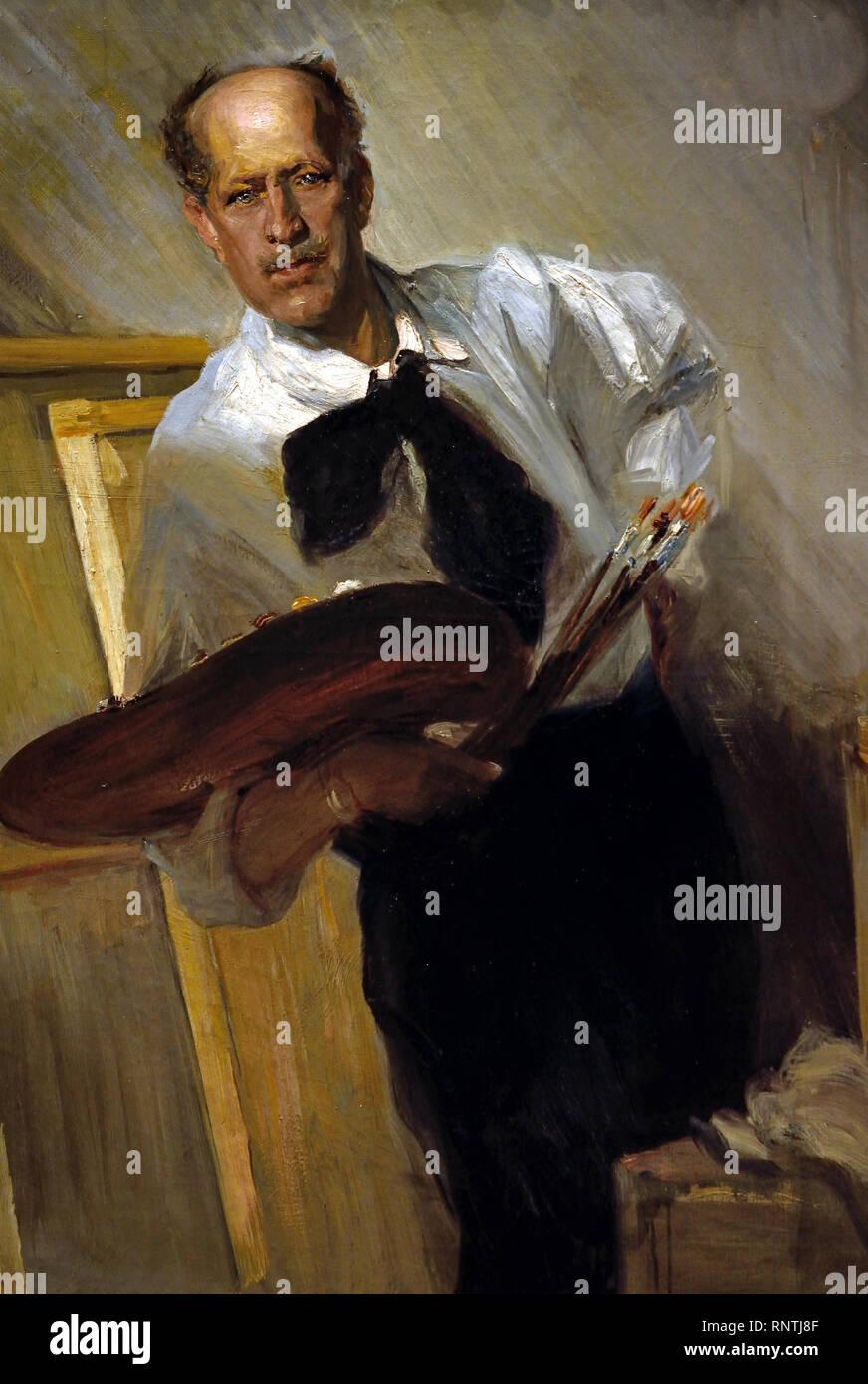 Self Portrait 1905 by Jose Villegas Cordero 1844-1921 Spain, Spanish, - Stock Image