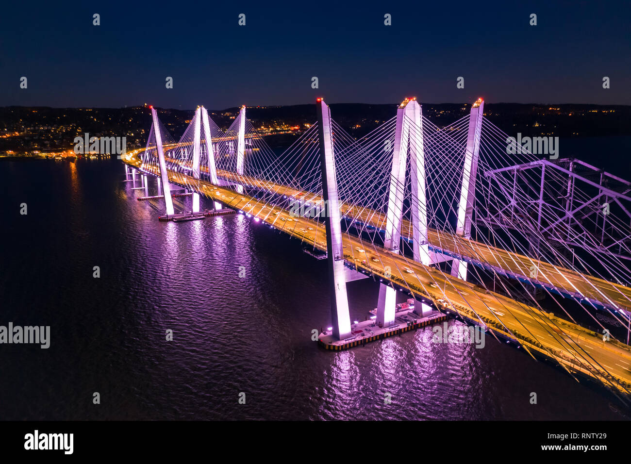 Aerial view of the New Tappan Zee Bridge - Stock Image