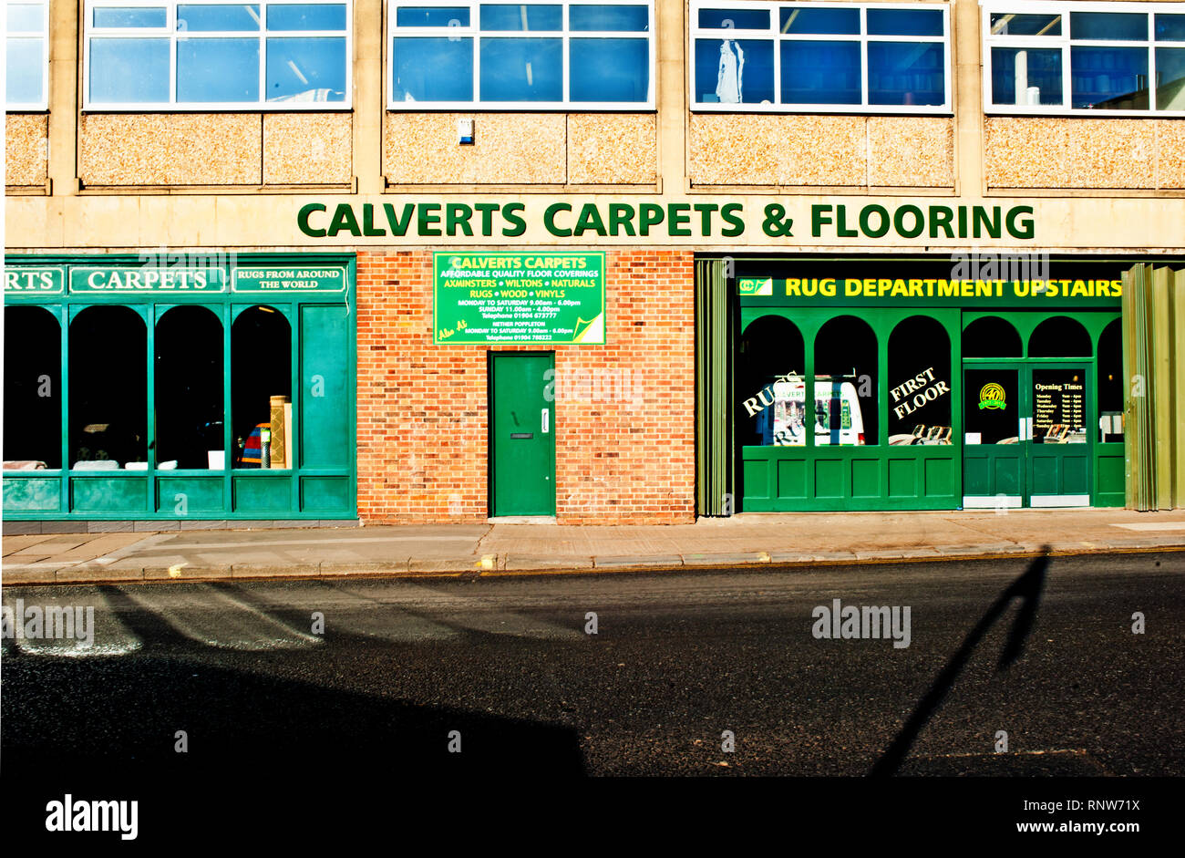 Calverts Carpets and Flooring, The Stonebow, York, England - Stock Image