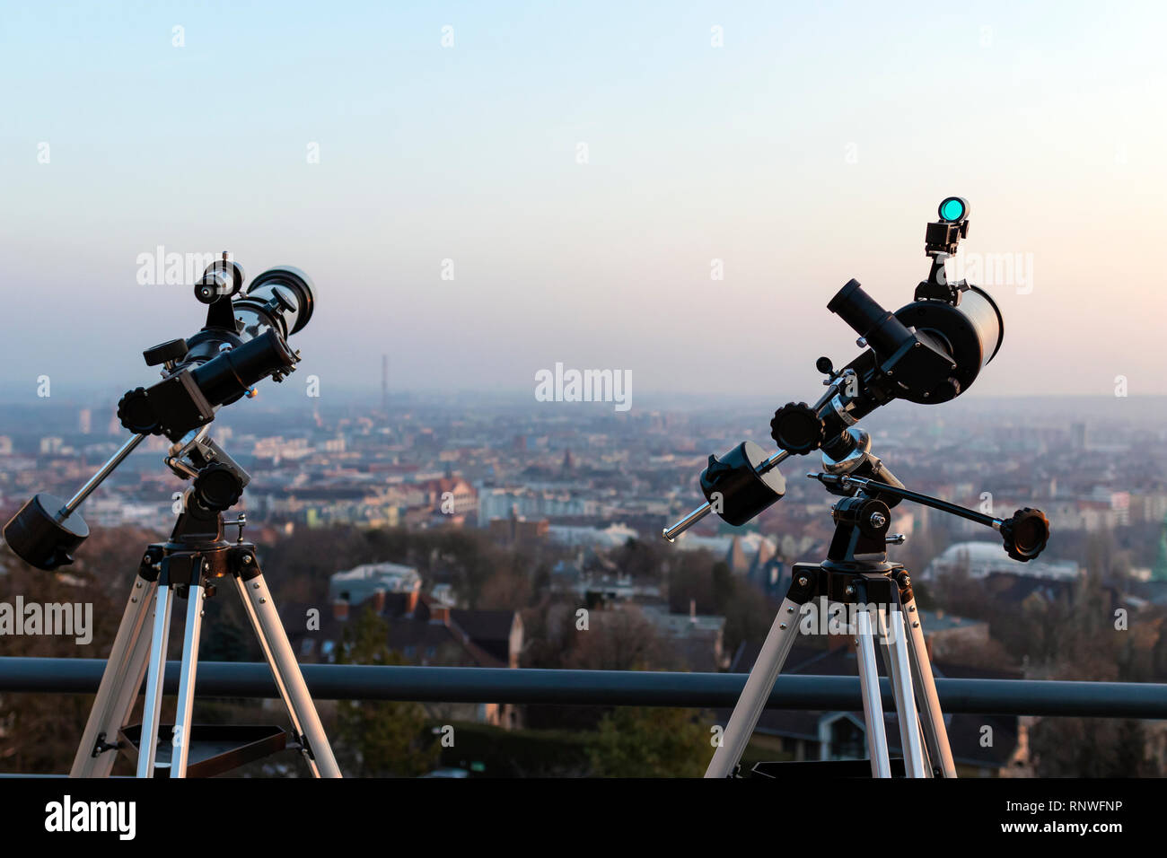 Two professional telescopes one newtonian and one refractor