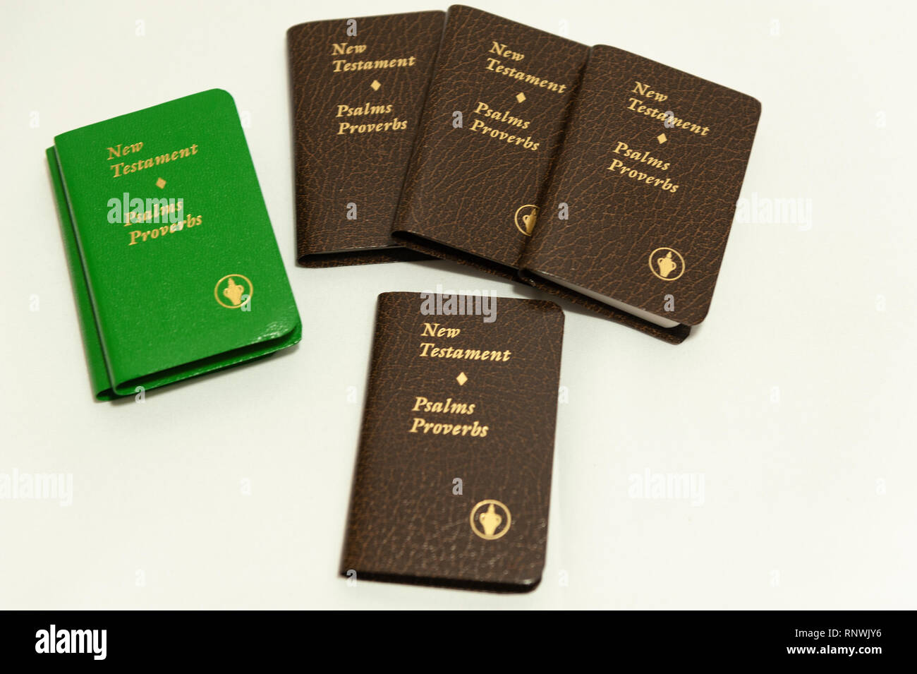 Gideon New Testaments - Stock Image