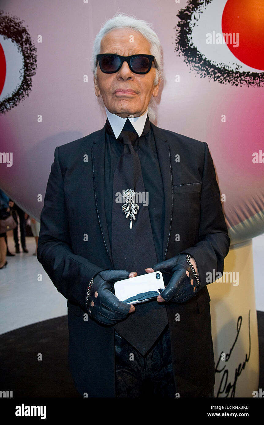 Karl Lagerfeld Attends At The Sho Uemura Event At Espace Commines In Paris German Fashion Designer And Creative Director For The French Fashion Brand Chanel Karl Lagerfeld Died On 19 February 2019