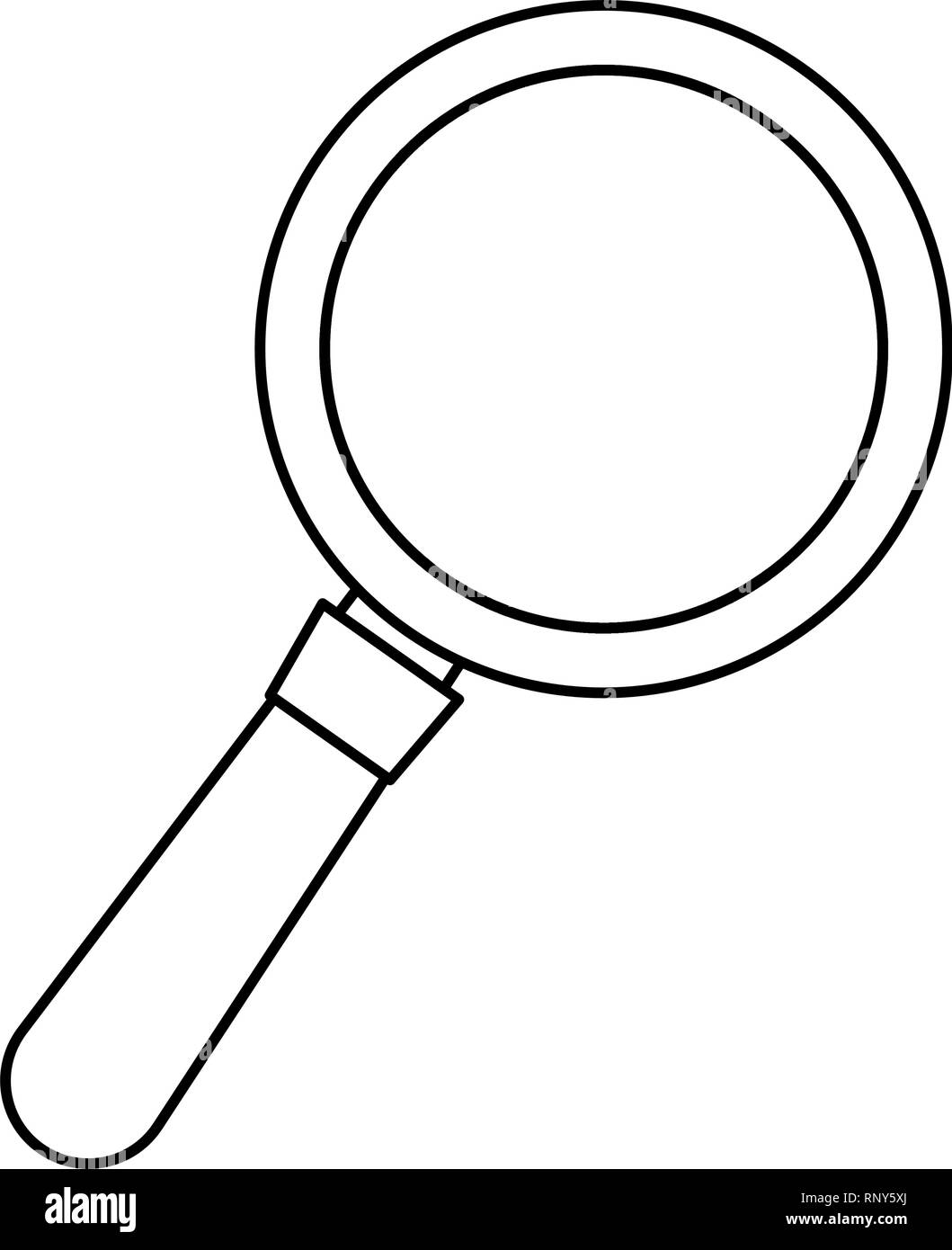 magnifying glass search on white background vector illustration - Stock Image