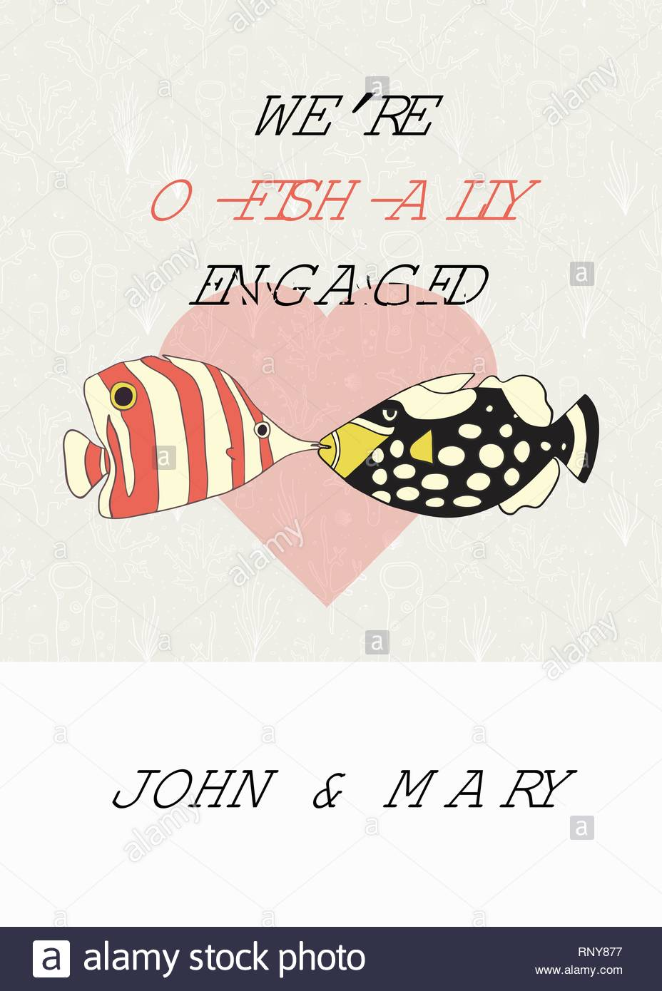 Engagement Announcement Vector Card Fun We Are Getting Married Pun