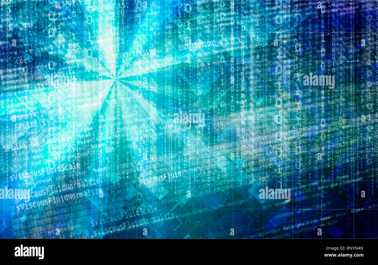 big data and cyberspace - Stock Image