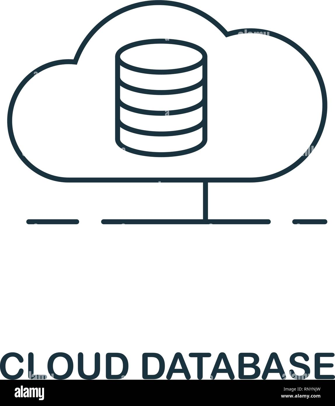 Cloud Database outline icon  Thin line style from big data
