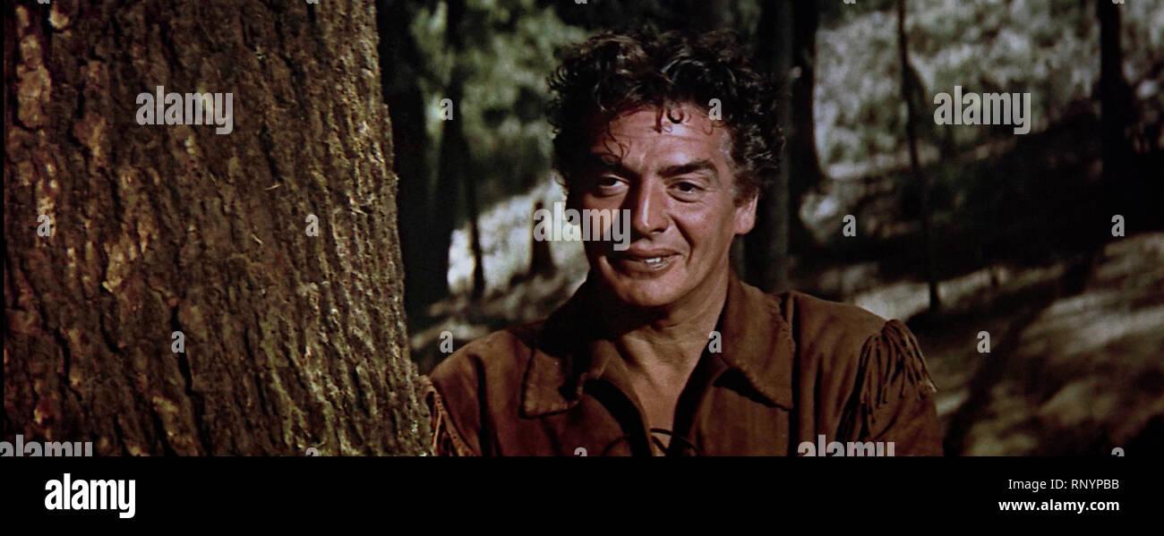 Prod DB © Columbia Pictures Corporation / DR LA CHARGE DES TUNIQUES BLEUES THE LAST FRONTIER de Anthony Mann 1955 USA Victor Mature. western;  d'apres - Stock Image