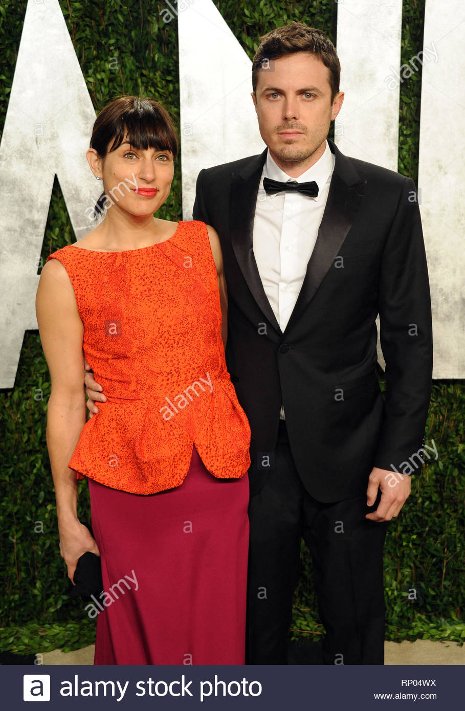 [USA ONLY] Los Angeles, CA - Casey Affleck and Summer Phoenix attend the 2013 Vanity Fair Oscar Party held at the Sunset Tower hotel in Los Angeles.  AKM-GSI          February 24, 2013  [USA ONLY]  To License These Photos, Please Contact :  Steve Ginsburg (310) 505-8447 (323) 4239397 steve@ginsburgspalyinc.com sales@ginsburgspalyinc.com  or  Keith Stockwell (310) 261-8649 (323) 325-8055  keith@ginsburgspalyinc.com ginsburgspalyinc@gmail.com - Stock Image