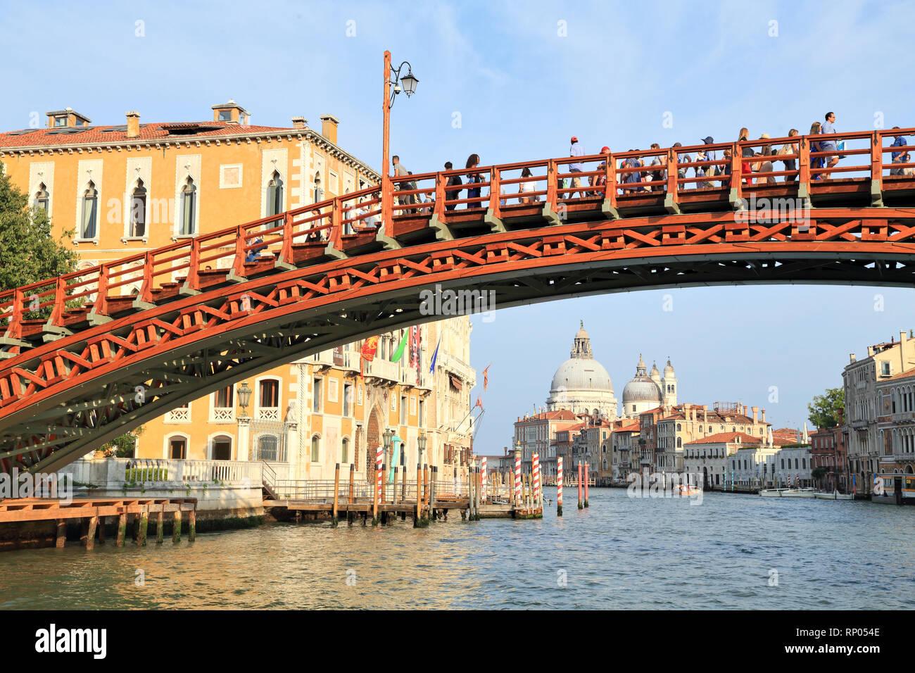 Ponte dell'Accademia bridge, Venice (2018, after restoration) - Stock Image