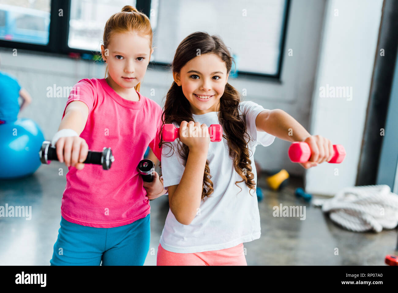 Kids Doing Exercise High Resolution Stock Photography And Images Alamy