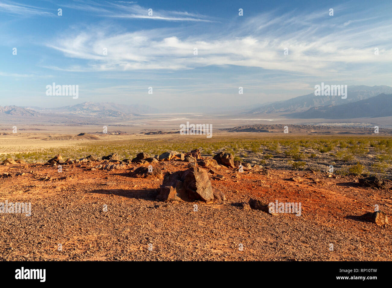 Hells Gate viewpoint looking south down Death Valley, Death Valley National Park, California, United States. - Stock Image
