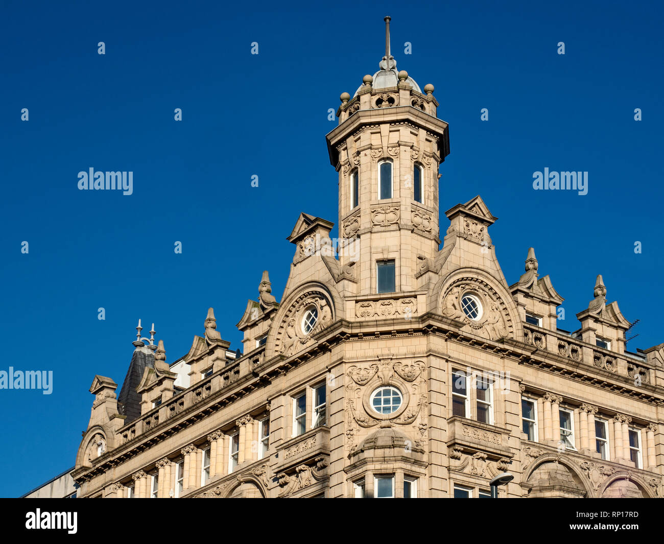 Building currently Yorkshire Building Society at the corner of Briggate and Duncan Street in Leeds West Yorkshire England - Stock Image