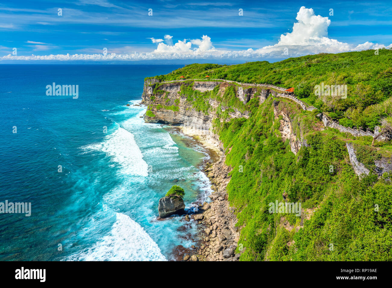 Landscape of Ocean and Rocks, colorful and beautiful place