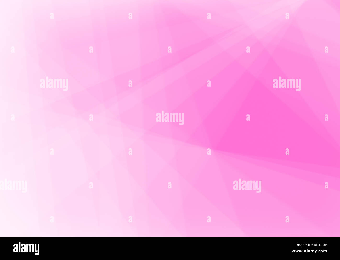 Abstract pink background with light & transparent lines, triangle shapes and diagonal stripes in random pattern. Report or business background concept Stock Photo