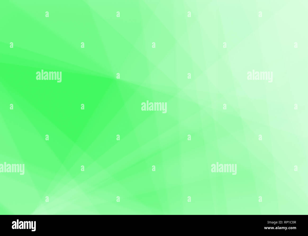 Abstract neon green background with light and transparent lines, triangle shapes and diagonal stripes in random pattern. Copy space. Stock Photo