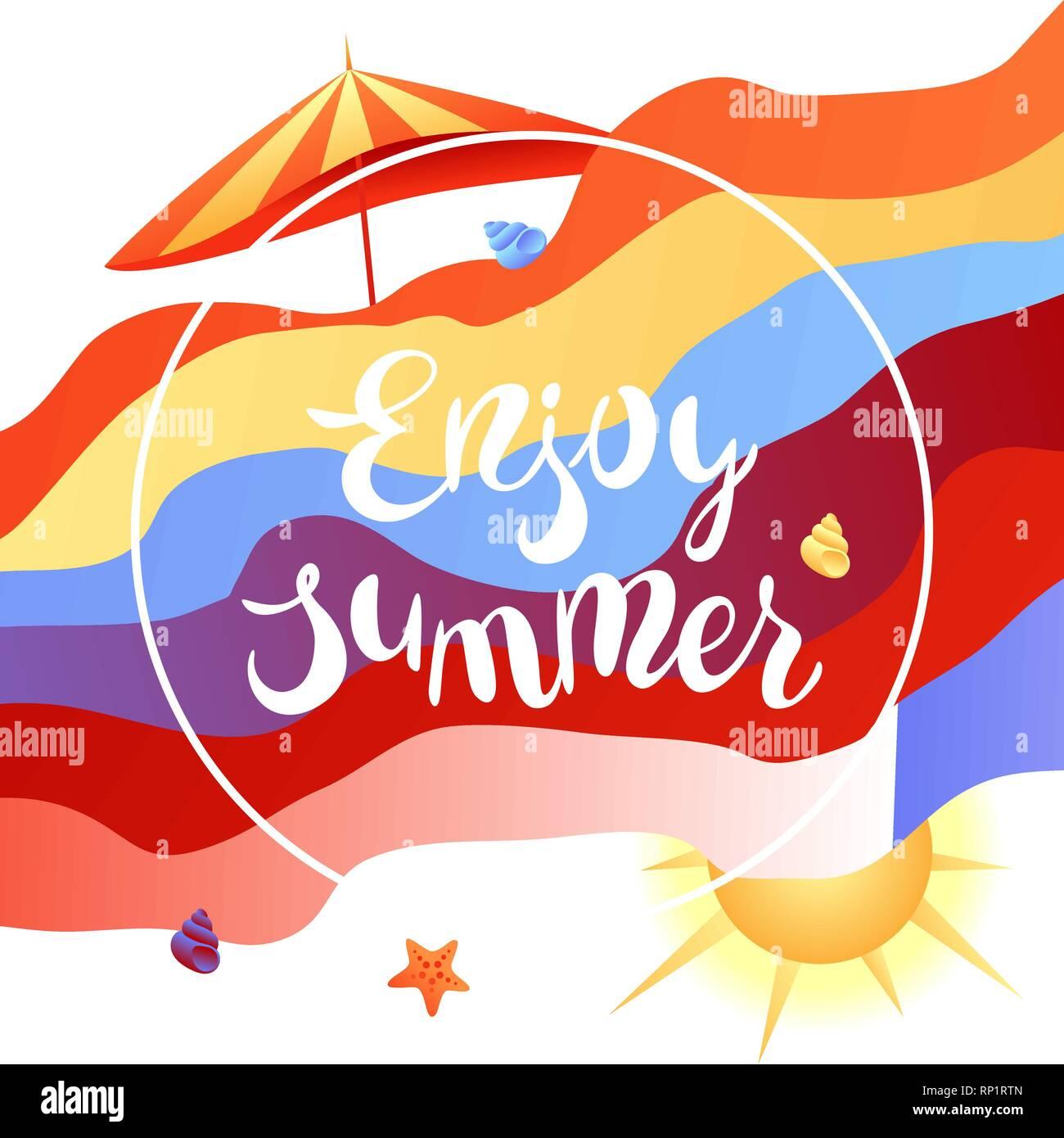Enjoy summer illustration. - Stock Vector