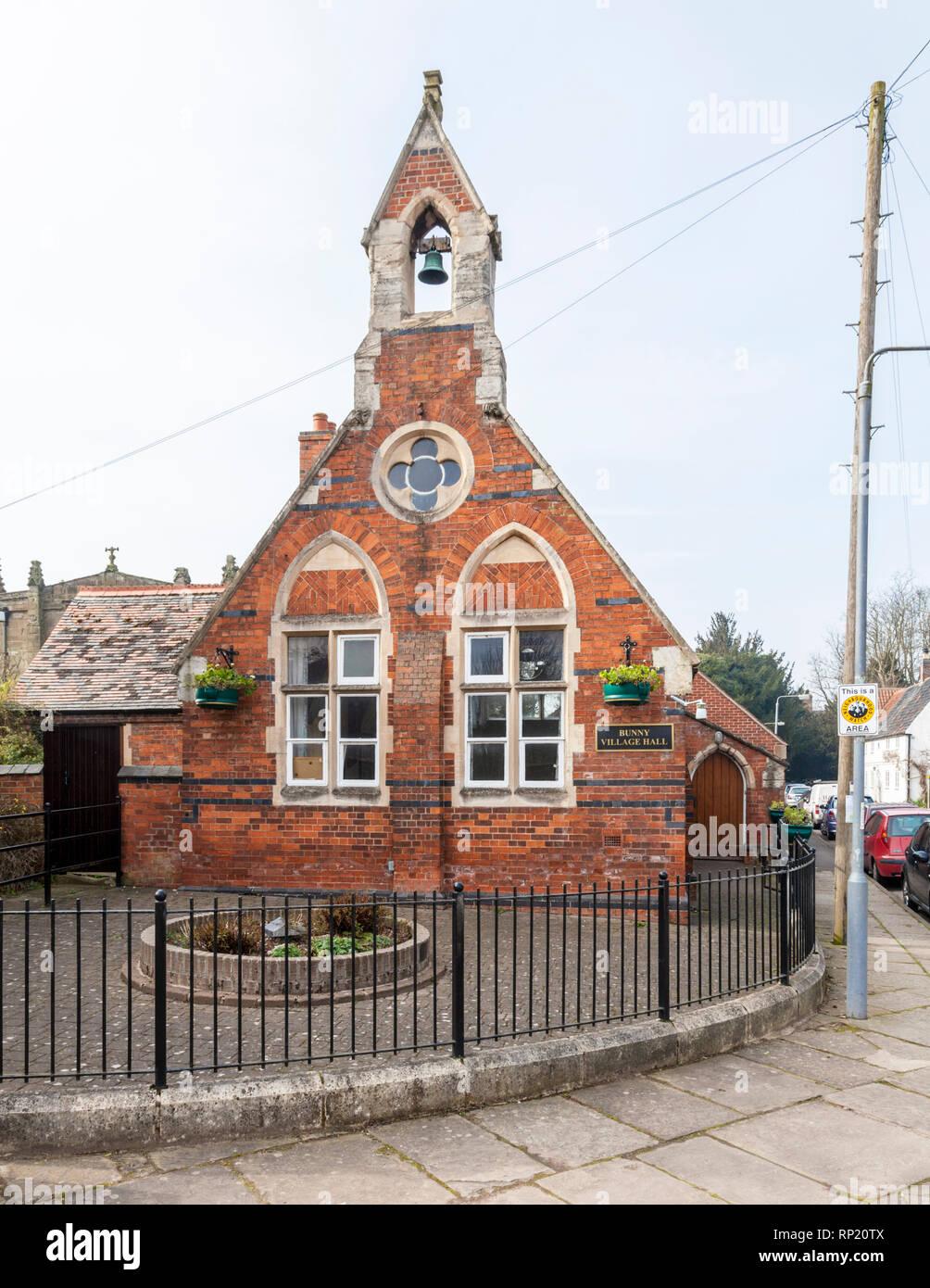 The Village Hall, Bunny, Nottinghamshire, England, UK - Stock Image