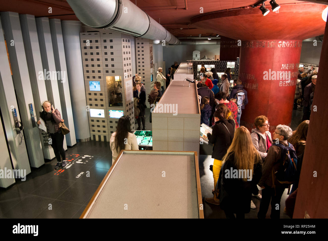 The DDR museum in Berlin, Germany. - Stock Image