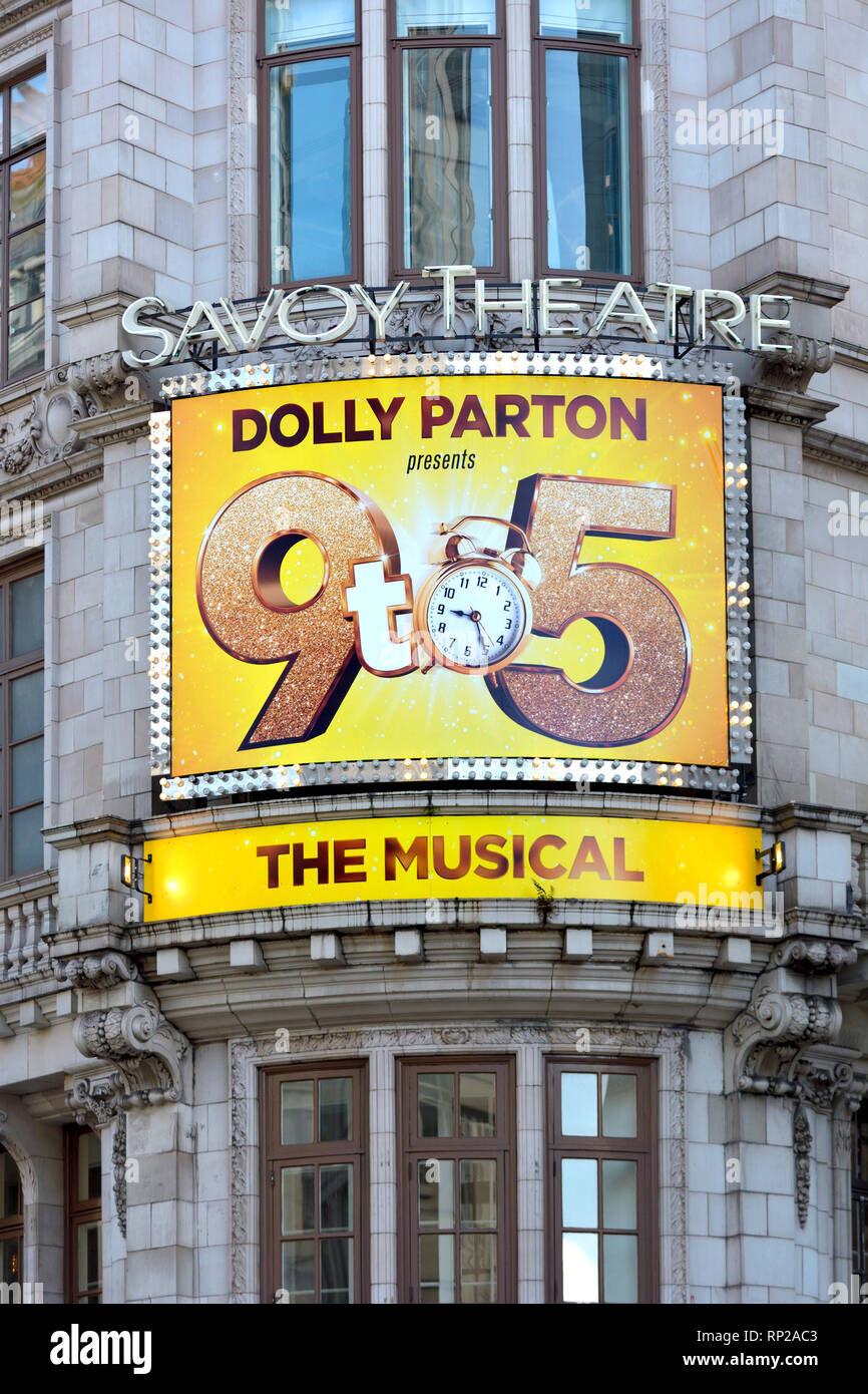 London, England, UK. Savoy Theatre: '9 to 5 - The Musical' (by Dolly Parton) Feb 2019 - Stock Image