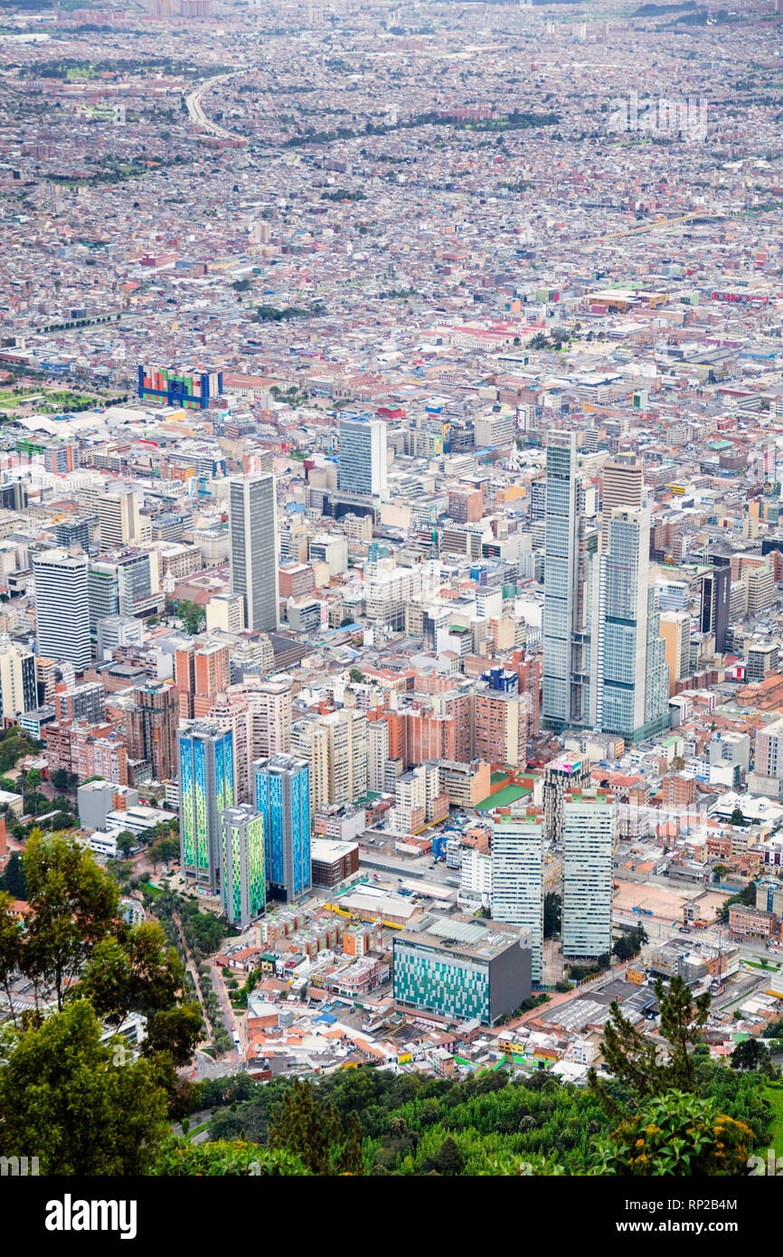 Colombia, Bogota, the Central Business District in the capital - Stock Image