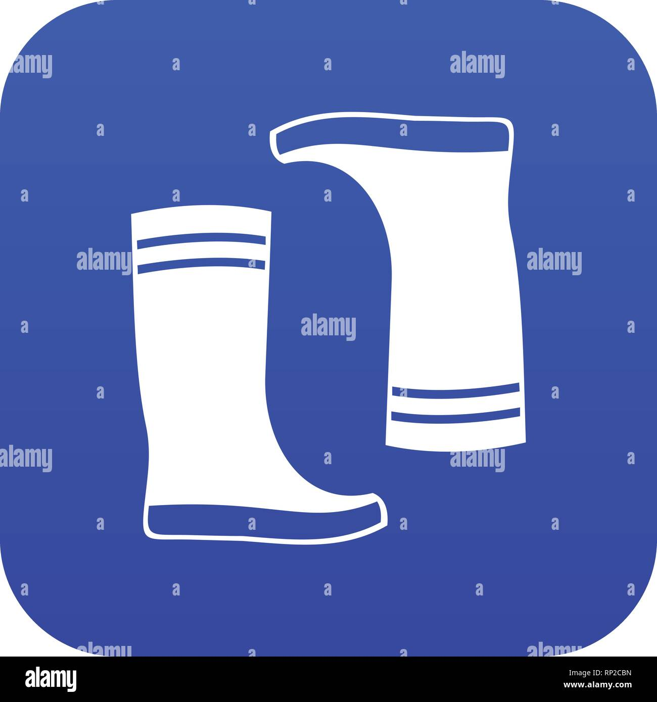 fc6d4b3f834 Rubber boots icon digital blue Stock Vector Art & Illustration ...