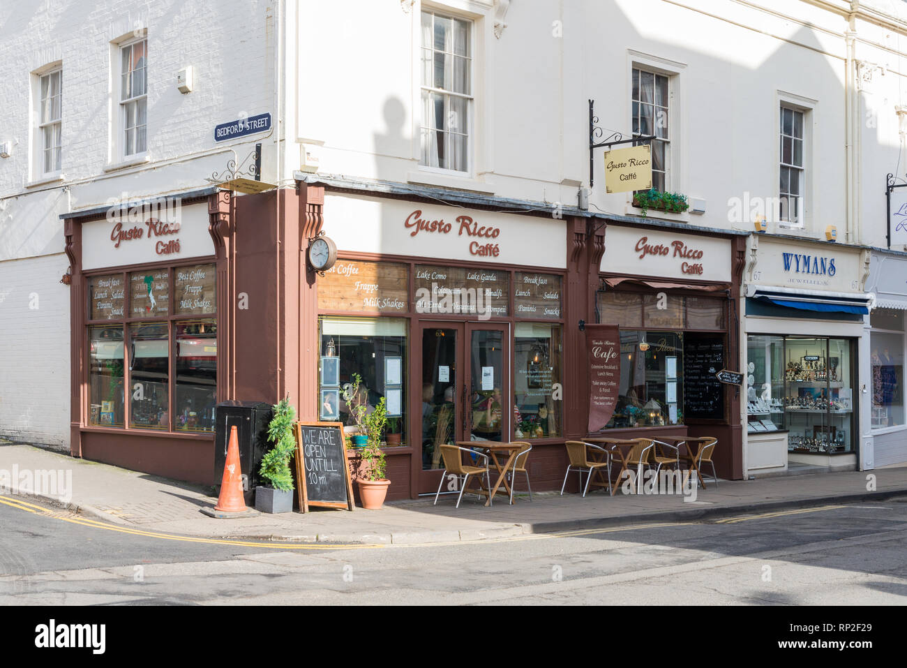 Gusto Rico Italian cafe in Regent Street, Leamington Spa, Warwickshire - Stock Image