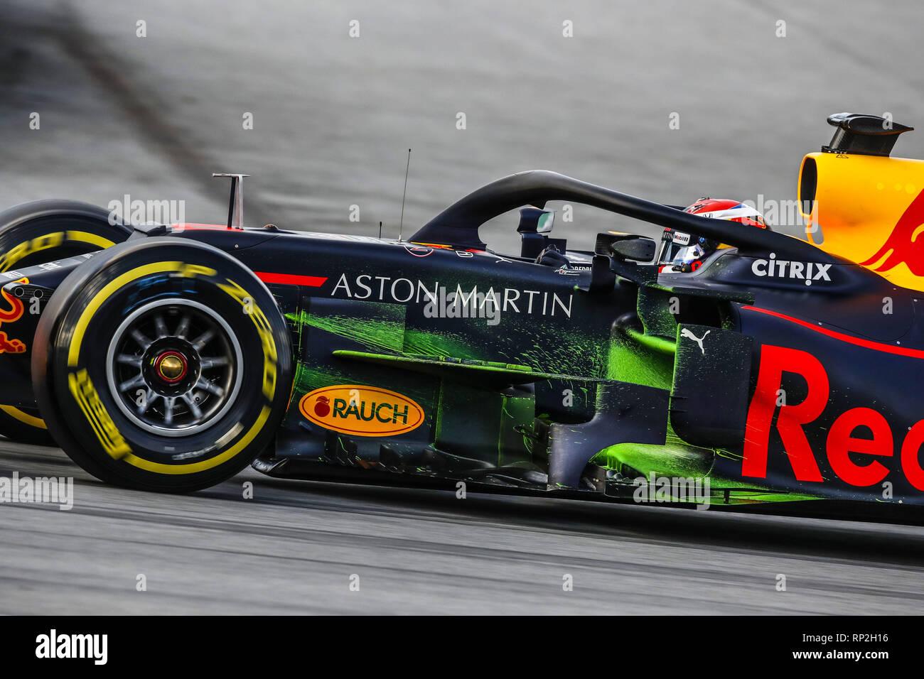 Barcelona Spain 19th Feb 2019 10 Gasly Pierre Fra Aston Martin Red Bull Racing Honda Rb15