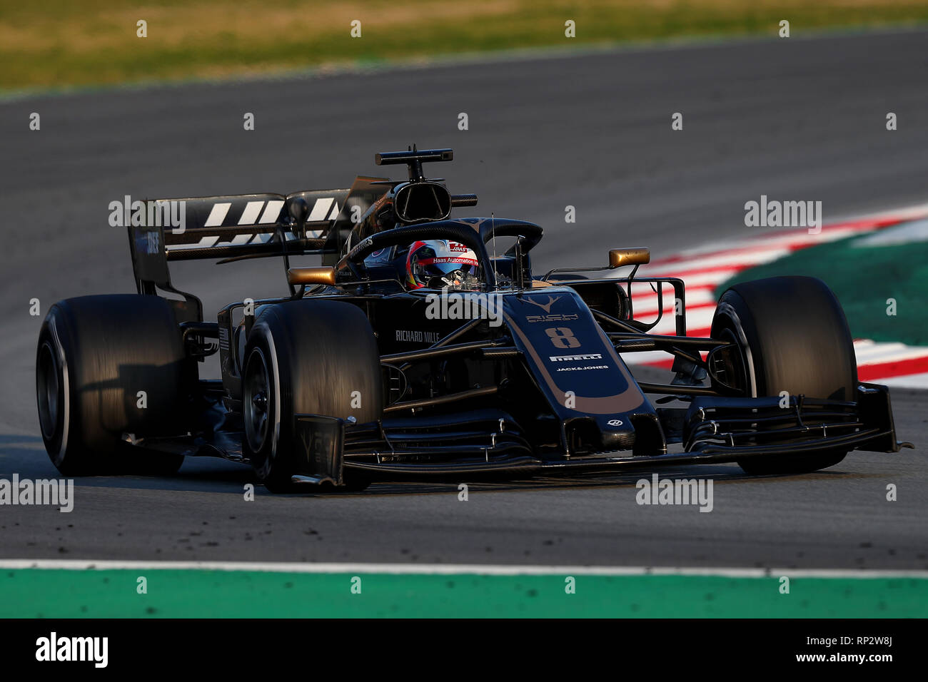 montmelo spain 20th feb 2019 08 romain grosjean haas f1 team montmelo barcelona 20 02. Black Bedroom Furniture Sets. Home Design Ideas