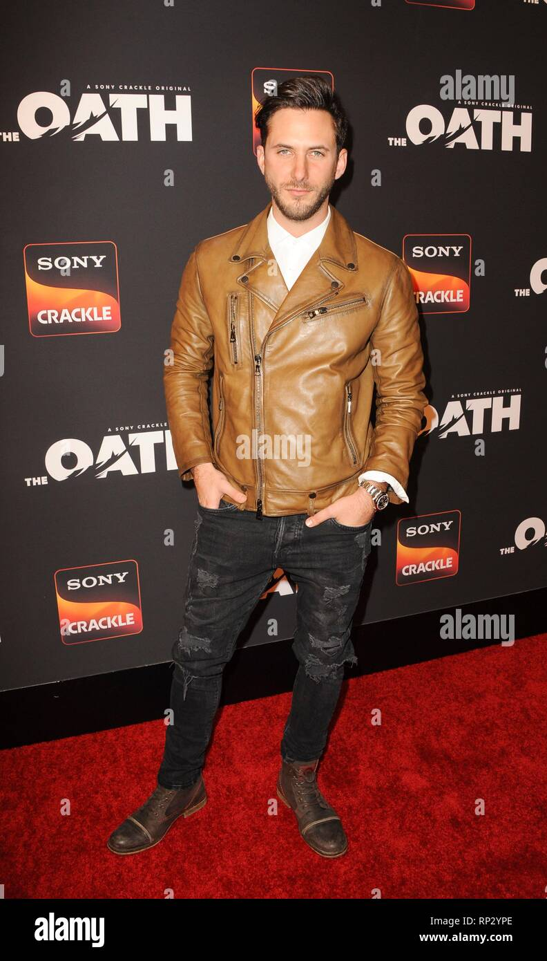 Los Angeles, CA, USA. 20th Feb, 2019. Sebastian Zurita at arrivals for Sony Crackle THE OATH Season 2 Screening Presented by Lexus, Paloma, Los Angeles, CA February 20, 2019. Credit: Elizabeth Goodenough/Everett Collection/Alamy Live News - Stock Image