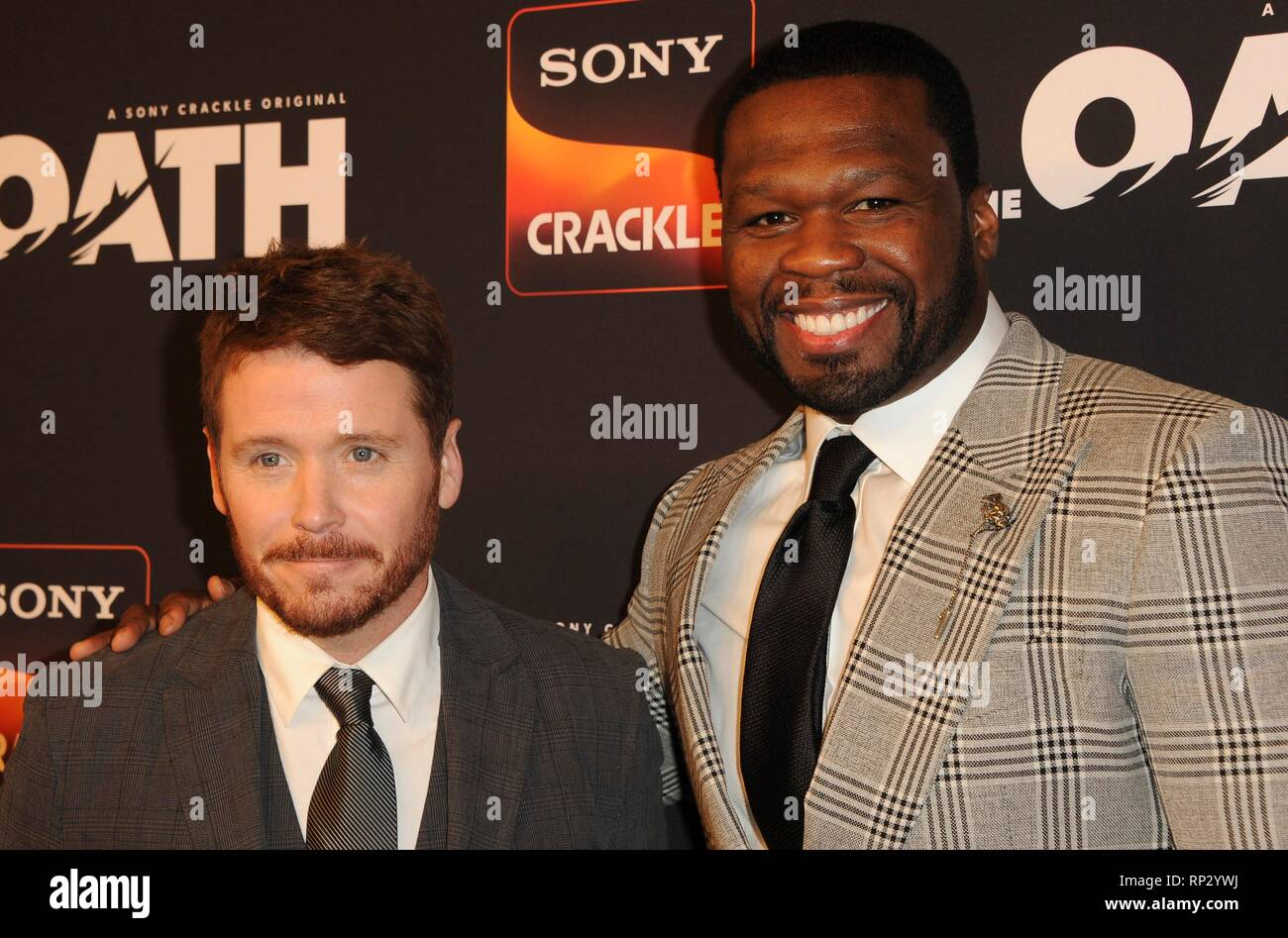 Los Angeles, CA, USA. 20th Feb, 2019. Kevin Connolly, Curtis Jackson 50 Cent at arrivals for Sony Crackle THE OATH Season 2 Screening Presented by Lexus, Paloma, Los Angeles, CA February 20, 2019. Credit: Elizabeth Goodenough/Everett Collection/Alamy Live News - Stock Image