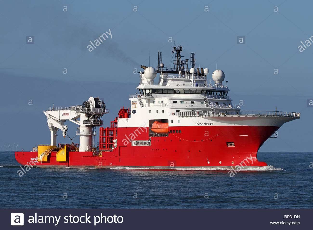 An offshore vessel - Stock Image