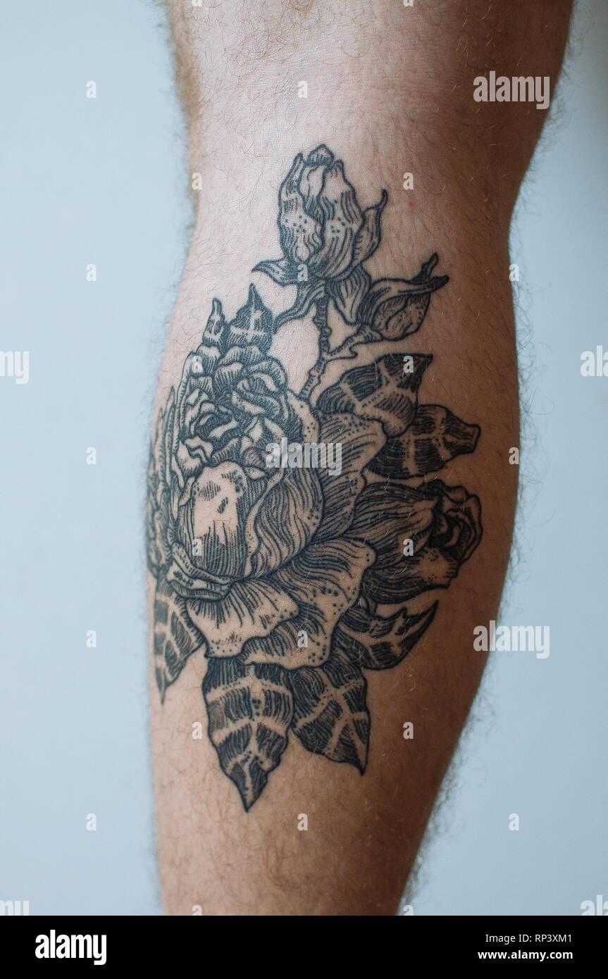 Art Project About Tattoos And Scars Stock Photo Alamy