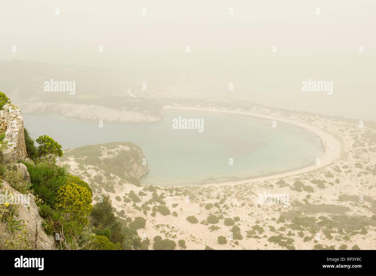 Voidokilia Beach, Pylos, Greece - Stock Image