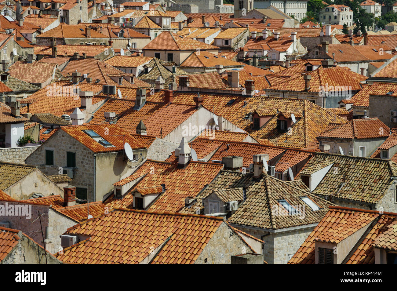 Roofs of Dubrovnic Stock Photo