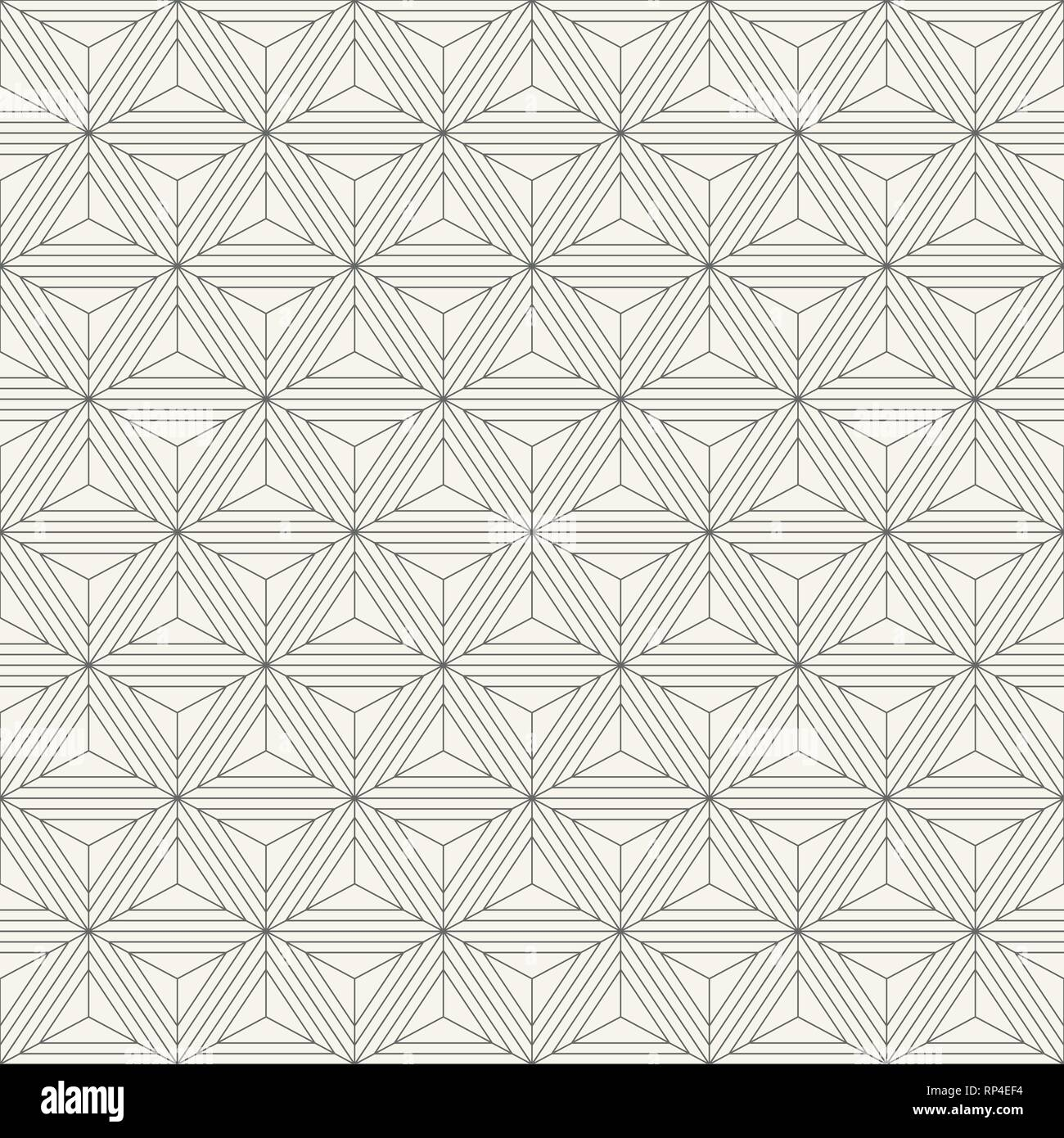 Abstract geometric simple pattern of triangles. Modern stylish texture. Repeating geometric tiles. Simple symmetric composition of triangles. - Stock Image