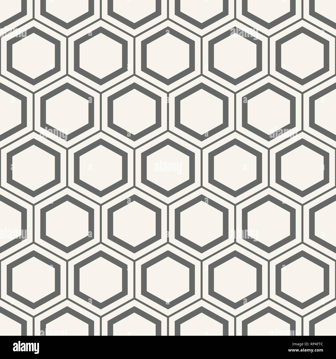 Seamless Geometric Abstract Pattern Of Hexagons Fashion