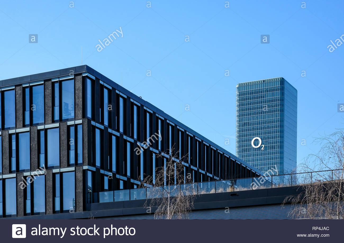 O2 Telefonice Headquarters Office - Stock Image