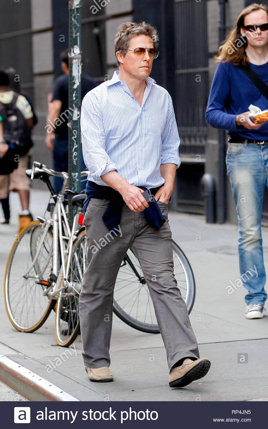 New York Ny Hugh Grant Takes A Stroll Around The Soho District In