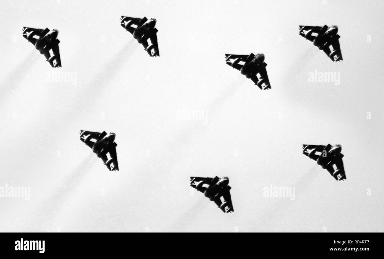 The Panavia Tornado GR4 in formation - Stock Image