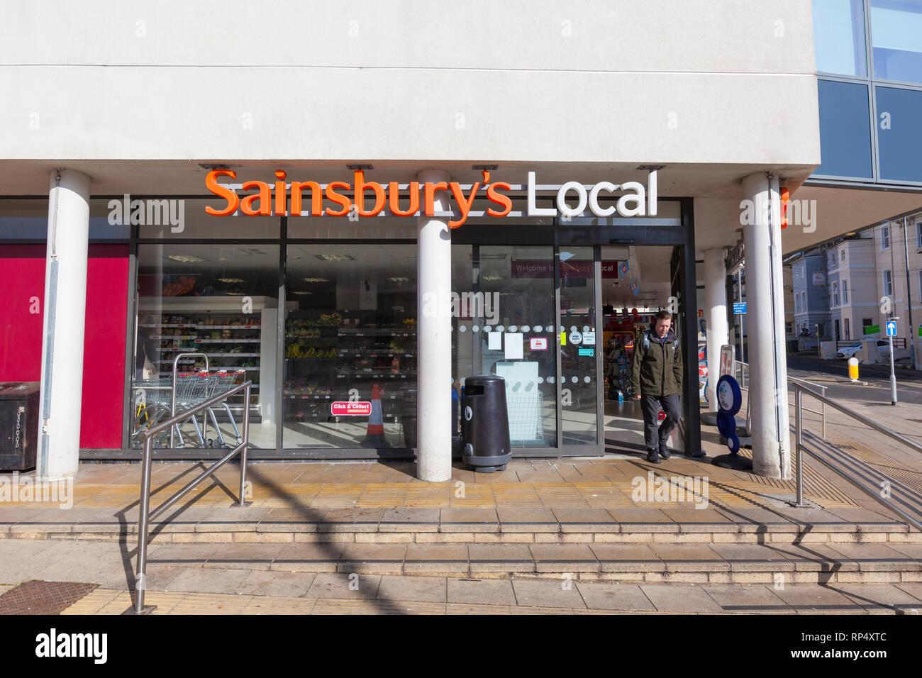 Sainsburys local, hastings, east sussex, uk - Stock Image