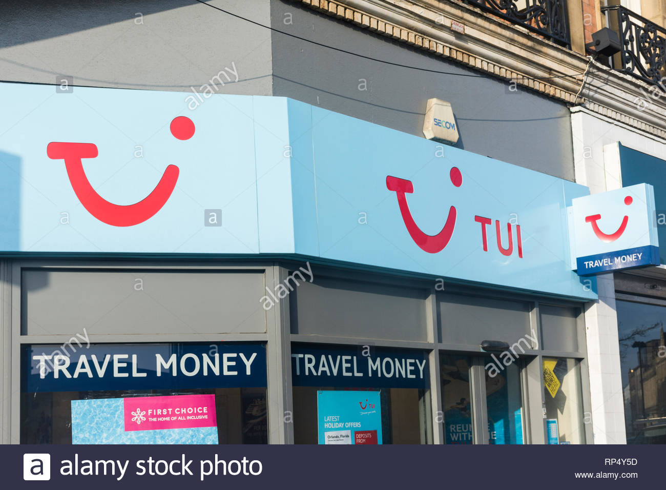 TUI Travel agency in Sheffield, South Yorkshire, England, UK - Stock Image