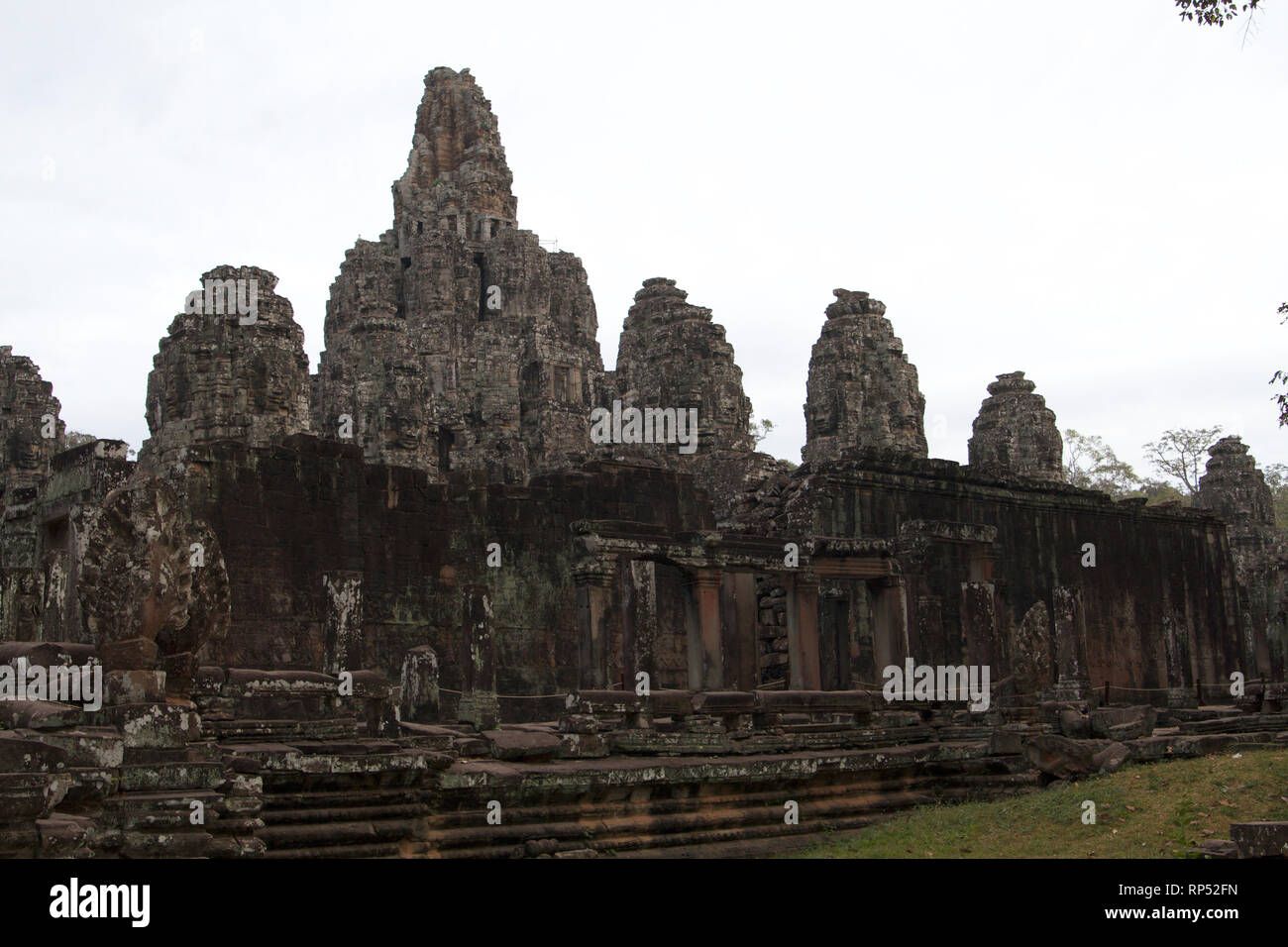 Siem Reap-Bayon Temple north side - Stock Image