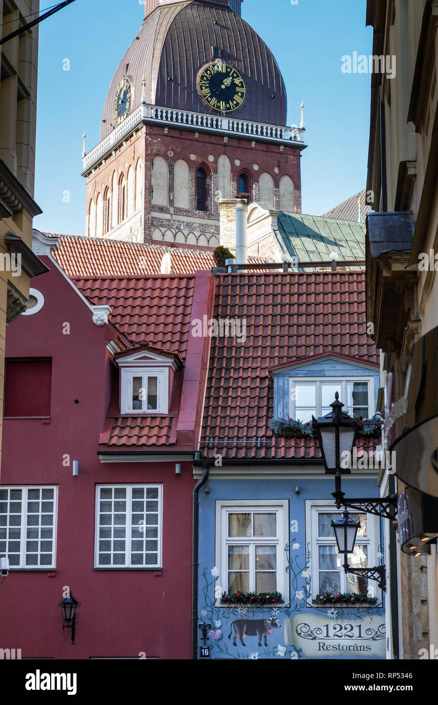 Quirky 1221 Restorans - one of the most instagrammable views in Riga, Latvia - Stock Image