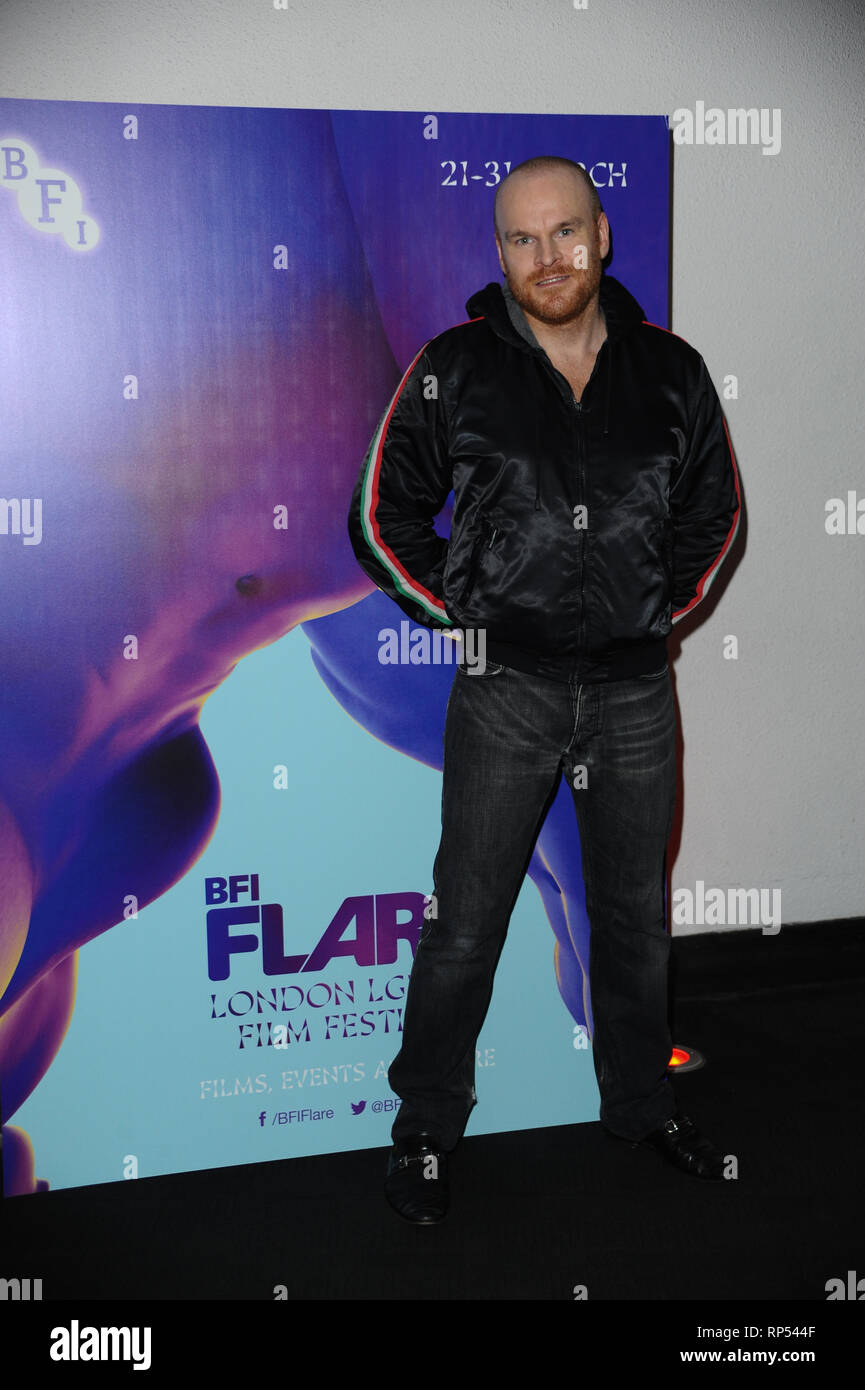 Philip Christopher Baldwin, a prominent LGBT Activist seen during the LGBT Film Festival Launch at BFI Southbank, London. - Stock Image