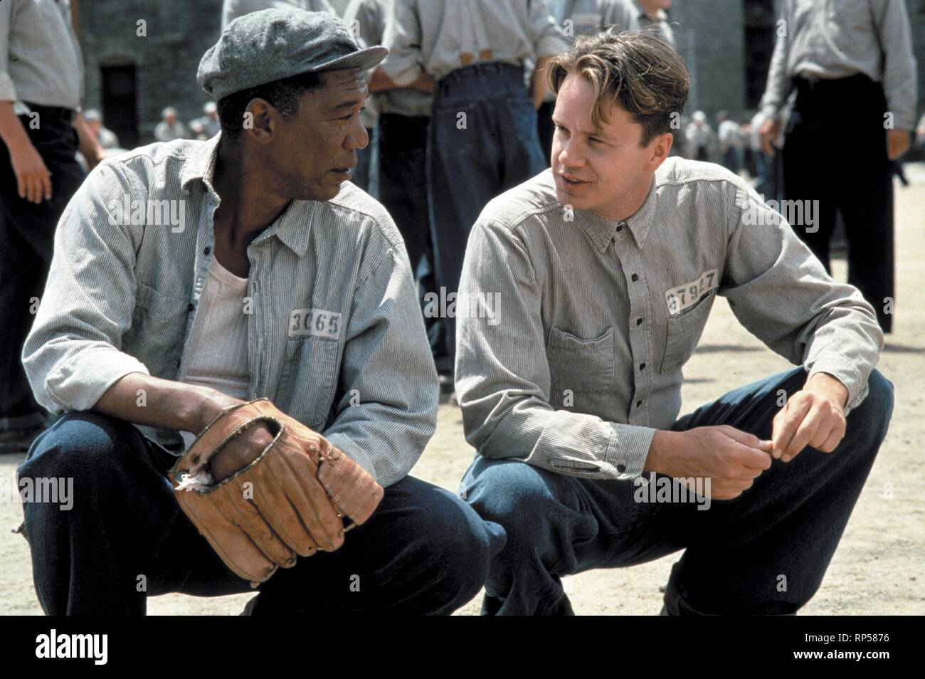 FREEMAN,ROBBINS, THE SHAWSHANK REDEMPTION, 1994 - Stock Image