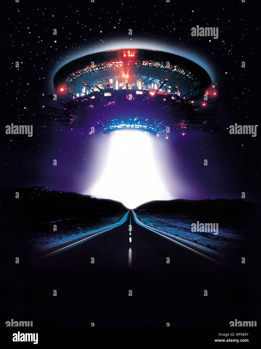Ufo Scene Close Encounters Of The Third Kind 1977 Stock Photo