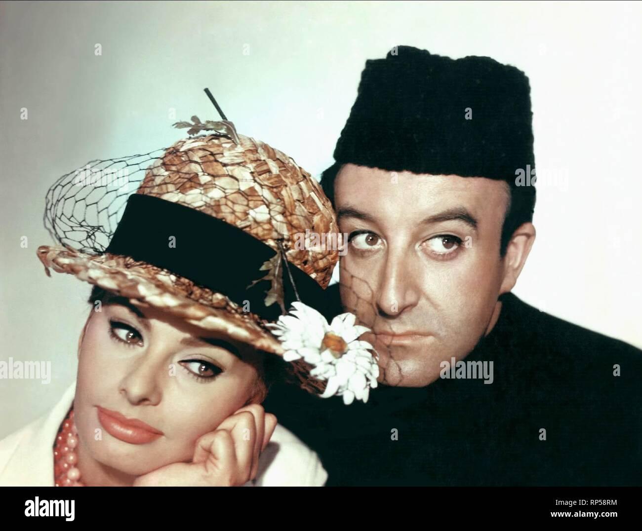 LOREN,SELLERS, THE MILLIONAIRESS, 1960 Stock Photo